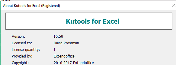 kutools for excel license